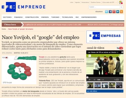 Agencia EFE Yovijob Google del empleo