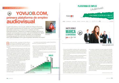 Artículo de la revista San Pablo CEU sobre Yovijob Búsuqueda de empleo